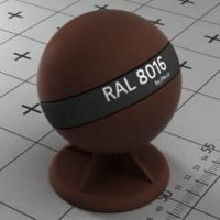 RAL 8016 краска для фасадов МДФ махагон