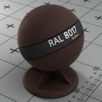 RAL 8017 краска для фасадов МДФ шоколадный