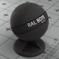 RAL 8019 краска для фасадов МДФ серо-коричневый
