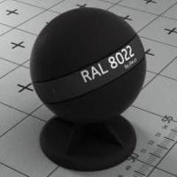 RAL 8022 краска для фасадов МДФ черно-коричневый