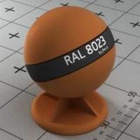 RAL 8023 краска для фасадов МДФ оранжево-коричневый