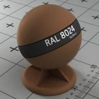 RAL 8024 краска для фасадов МДФ бежево-коричневый
