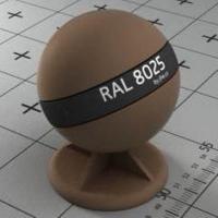 RAL 8025 краска для фасадов МДФ бледно-коричневый