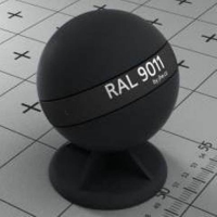 RAL 9011  краска для фасадов МДФ гранитно-черная