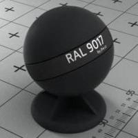 RAL 9017  краска для фасадов МДФ дорожно-черная