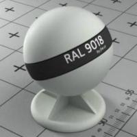 RAL 9018  краска для фасадов МДФ папирусно-белая