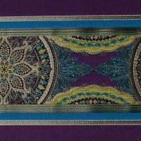 Мебельная ткань жаккард FORTUNE Stripe Purple Sapphire (Фортун Страйп Пёрпл Сапфир)