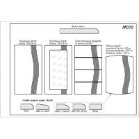 Фрезеровка 070 Свирель 2, фасады МДФ в пленке ПВХ, любые размеры