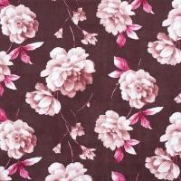 Мебельная ткань микрофибра FUROR Flowers Bordo (Фурор Флауэрс Бордо)