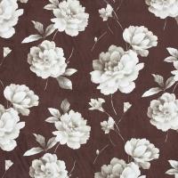 Мебельная ткань микрофибра FUROR Flowers Brown (Фурор Флауэрс Браун)