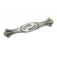 MZ.622F01 Ручка-скоба L=96мм античное серебро с креп. компл.