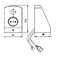 Блок ALPHA (выключатель-розетка)