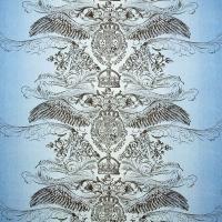 Мебельная ткань скотчгард JEANS Tattoo (Джинс Тату)