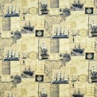 Мебельная ткань скотчгард JULES VERNE Blue Sea (ДЖУЛС ВЕРН Блю Сии)