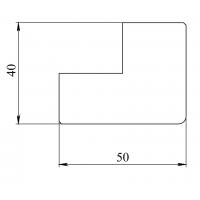 Карниз верхний/нижний прямой Альба Бьянка 3660х50х40