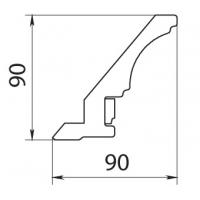 Карниз верхний полукруг Аризона 385х385х(90х89,5) массив Италия