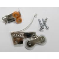 Комплект роликов ABSOLUT усиленный асимметричный (1верх+1низ+винты) нагрузка до 75кг на 1 дверь. Алюминиевая система дверей-купе ABSOLUT DOORS SYSTEM