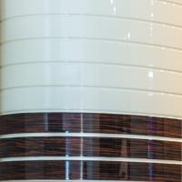 Фасады гнутые МДФ комбинированные эмаль и шпон более 3-х полос