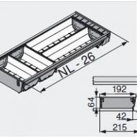 Лоток для нестандартной ширины корпуса (192мм), L=500мм