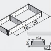 Лоток для нестандартной ширины корпуса (194мм), L=500мм