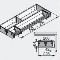 Лоток для нестандартной ширины корпуса (200мм), L=500мм