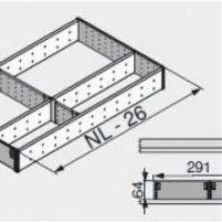 Лоток для нестандартной ширины корпуса (291мм), L=450мм