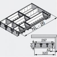 Лоток для нестандартной ширины корпуса (297мм), L=500мм