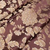 Мебельная ткань жаккард MARGUERITE DE VALOIS Fleur Marsala (МАРГАРИТ ДЕ ВАЛУА Флёр Марсала)