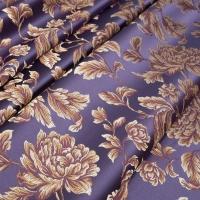 Мебельная ткань жаккард MARGUERITE DE VALOIS Fleur Violet (МАРГАРИТ ДЕ ВАЛУА Флёр Вёлет)
