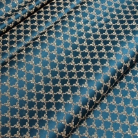 Мебельная ткань жаккард MARGUERITE DE VALOIS Losange Marin (МАРГАРИТ ДЕ ВАЛУА Лёзонж Маран)