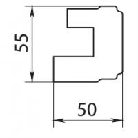 Молдинг/карниз нижний полукруг Аризона 385х385(60х55,5) массив Италия