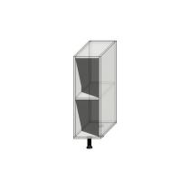 Корпус нижнего узкого шкафа шириной 240мм под 1 дверь