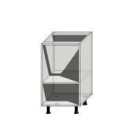 Корпус нижнего шкафа шириной 450мм под 1 ящик и 1 дверцу