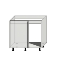 Корпус углового шкафа под мойку шириной 900мм (850мм)