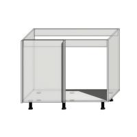 Корпус углового шкафа под мойку шириной 1050мм (1000мм)