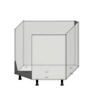 Кухонный шкаф 917х917мм диагональный(трапеция) под фасад шириной 496мм