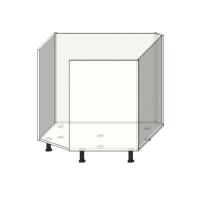 Кухонный шкаф под мойку 885х885мм диагональный(трапеция) под фасад шириной 446мм