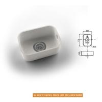 Интегрированная кухонная мойка OMEGA CLASSIC 809 из искусственного камня
