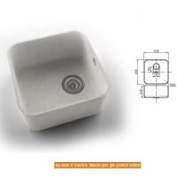 Интегрированная кухонная мойка OMEGA CLASSIC 813 из искусственного камня