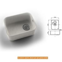 Интегрированная кухонная мойка OMEGA CLASSIC 851 из искусственного камня