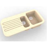 Интегрированная кухонная мойка с крылом OMEGA CLASSIC 600 из искусственного камня