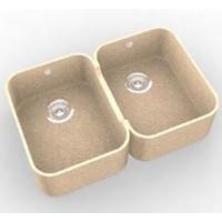Интегрированная кухонная мойка OMEGA CLASSIC 767 из искусственного камня