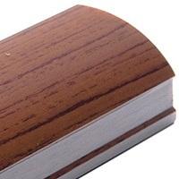 Орех, профиль вертикальный Стандарт CLASSIC асимметричный. Алюминиевая система дверей-купе ABSOLUT DOORS SYSTEM