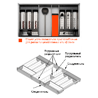 Набор для столовых приборов ORGA-LINE - H=900 мм / L=450