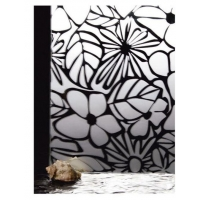 Зеркало СЕРЕБРО матированное узорчатое Цветы 2550х1650х4