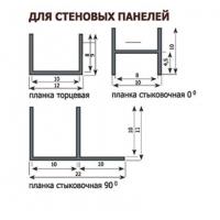 Профиль угловой для стеновой панели DUROPAL 10мм