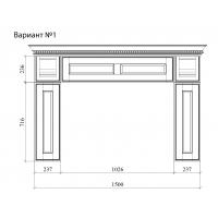 Накладка вертикальная портала Милан Джинс 236х237 массив Италия