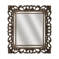 Зеркало ППУ прямоугольное R1076PA 750x950 натуральный цвет, Венеция (эмаль)