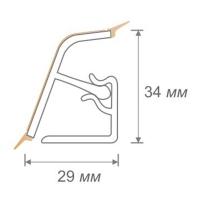 Кухонный плинтус (бортик) 118 к столешнице DUROPAL матовый