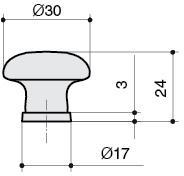 P04.01.84.02 Ручка-кнопка, отделка бронза старая + керамика